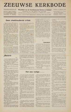 Zeeuwsche kerkbode, weekblad gewijd aan de belangen der gereformeerde kerken/ Zeeuwsch kerkblad 1957-01-11