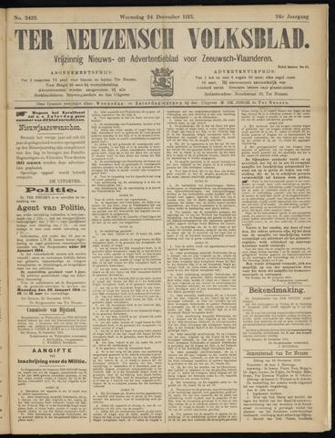 Ter Neuzensch Volksblad. Vrijzinnig nieuws- en advertentieblad voor Zeeuwsch- Vlaanderen / Zeeuwsch Nieuwsblad. Nieuws- en advertentieblad voor Zeeland 1913-12-24