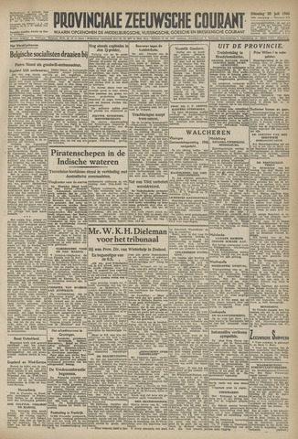 Provinciale Zeeuwse Courant 1946-07-30