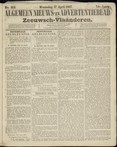 Ter Neuzensche Courant. Algemeen Nieuws- en Advertentieblad voor Zeeuwsch-Vlaanderen / Neuzensche Courant ... (idem) / (Algemeen) nieuws en advertentieblad voor Zeeuwsch-Vlaanderen 1867-04-17