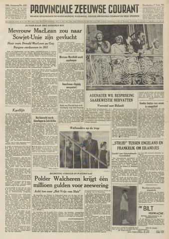 Provinciale Zeeuwse Courant 1953-09-17