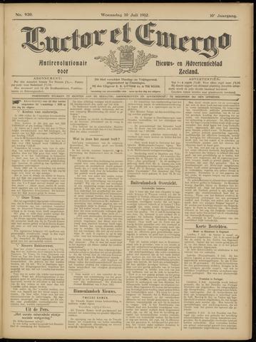 Luctor et Emergo. Antirevolutionair nieuws- en advertentieblad voor Zeeland / Zeeuwsch-Vlaanderen. Orgaan ter verspreiding van de christelijke beginselen in Zeeuwsch-Vlaanderen 1912-07-10