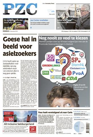 Provinciale Zeeuwse Courant 2014-12-23
