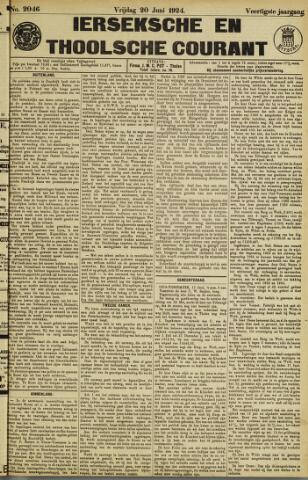 Ierseksche en Thoolsche Courant 1924-06-20