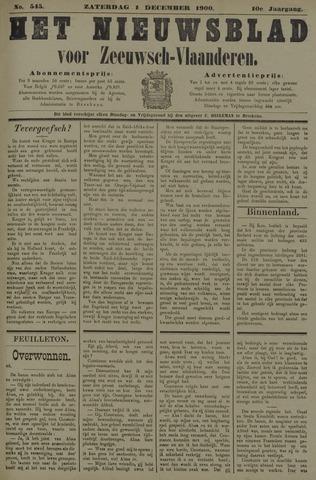 Nieuwsblad voor Zeeuwsch-Vlaanderen 1900-12-01