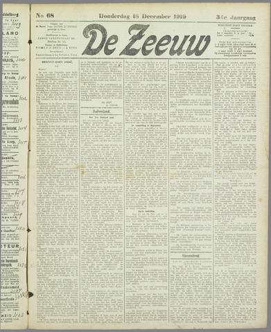 De Zeeuw. Christelijk-historisch nieuwsblad voor Zeeland 1919-12-18