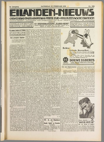 Eilanden-nieuws. Christelijk streekblad op gereformeerde grondslag 1939-02-25