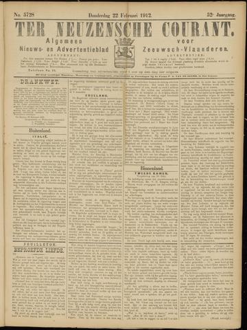 Ter Neuzensche Courant. Algemeen Nieuws- en Advertentieblad voor Zeeuwsch-Vlaanderen / Neuzensche Courant ... (idem) / (Algemeen) nieuws en advertentieblad voor Zeeuwsch-Vlaanderen 1912-02-22