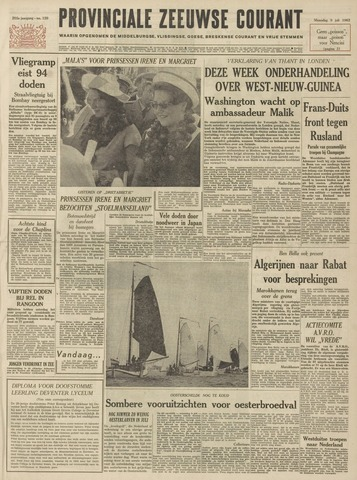 Provinciale Zeeuwse Courant 1962-07-09
