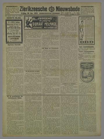 Zierikzeesche Nieuwsbode 1923-01-26