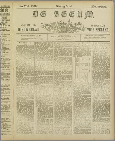 De Zeeuw. Christelijk-historisch nieuwsblad voor Zeeland 1906-07-03