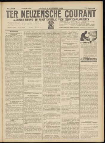Ter Neuzensche Courant. Algemeen Nieuws- en Advertentieblad voor Zeeuwsch-Vlaanderen / Neuzensche Courant ... (idem) / (Algemeen) nieuws en advertentieblad voor Zeeuwsch-Vlaanderen 1938-11-11