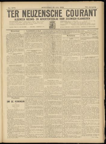 Ter Neuzensche Courant. Algemeen Nieuws- en Advertentieblad voor Zeeuwsch-Vlaanderen / Neuzensche Courant ... (idem) / (Algemeen) nieuws en advertentieblad voor Zeeuwsch-Vlaanderen 1934-07-25
