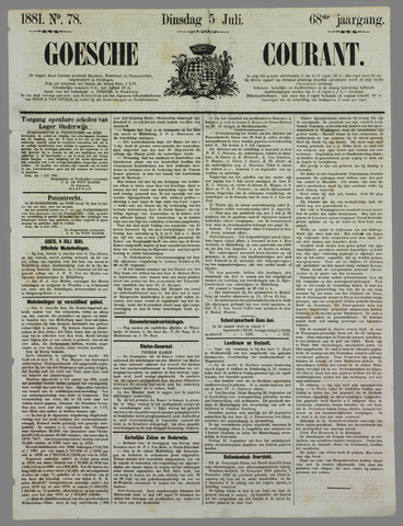 Goessche Courant 1881-07-05