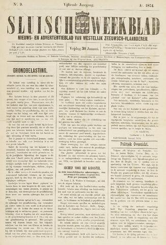 Sluisch Weekblad. Nieuws- en advertentieblad voor Westelijk Zeeuwsch-Vlaanderen 1874-01-30