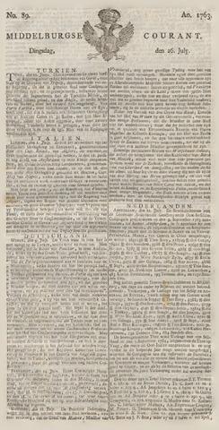 Middelburgsche Courant 1763-07-26