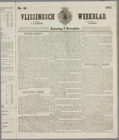 Vlissings Weekblad 1863-11-07