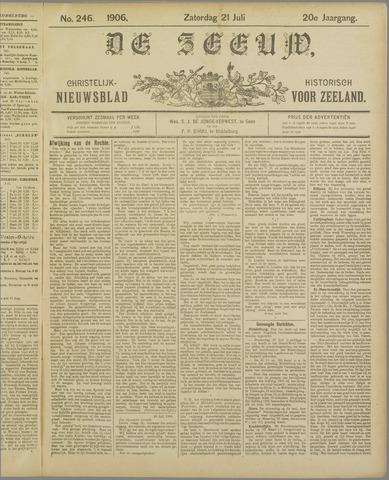 De Zeeuw. Christelijk-historisch nieuwsblad voor Zeeland 1906-07-21