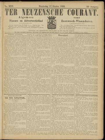 Ter Neuzensche Courant. Algemeen Nieuws- en Advertentieblad voor Zeeuwsch-Vlaanderen / Neuzensche Courant ... (idem) / (Algemeen) nieuws en advertentieblad voor Zeeuwsch-Vlaanderen 1895-10-17