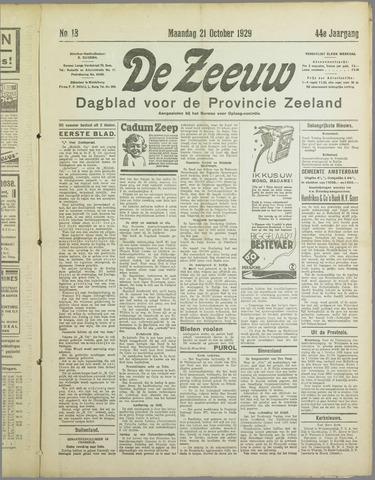 De Zeeuw. Christelijk-historisch nieuwsblad voor Zeeland 1929-10-21