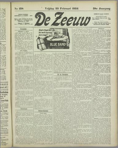 De Zeeuw. Christelijk-historisch nieuwsblad voor Zeeland 1924-02-29