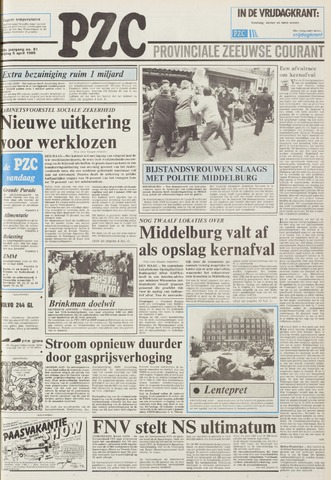 Provinciale Zeeuwse Courant 1985-04-05