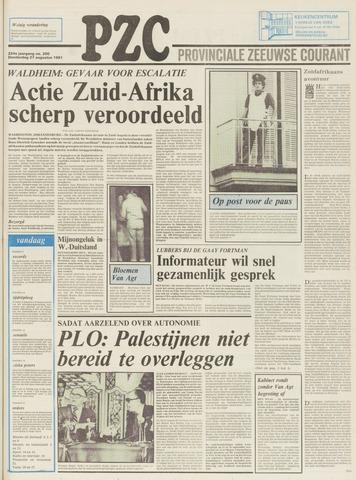 Provinciale Zeeuwse Courant 1981-08-27