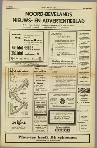 Noord-Bevelands Nieuws- en advertentieblad 1959-04-18