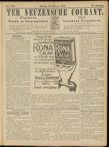 Ter Neuzensche Courant. Algemeen Nieuws- en Advertentieblad voor Zeeuwsch-Vlaanderen / Neuzensche Courant ... (idem) / (Algemeen) nieuws en advertentieblad voor Zeeuwsch-Vlaanderen 1912-02-13