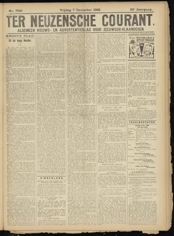 Ter Neuzensche Courant. Algemeen Nieuws- en Advertentieblad voor Zeeuwsch-Vlaanderen / Neuzensche Courant ... (idem) / (Algemeen) nieuws en advertentieblad voor Zeeuwsch-Vlaanderen 1923-12-07