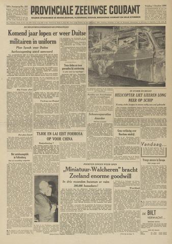 Provinciale Zeeuwse Courant 1954-10-01