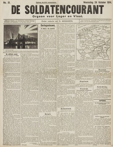 De Soldatencourant. Orgaan voor Leger en Vloot 1914-10-28