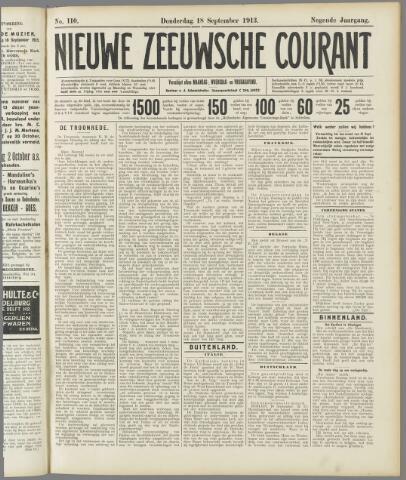 Nieuwe Zeeuwsche Courant 1913-09-18