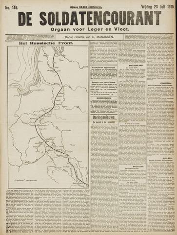 De Soldatencourant. Orgaan voor Leger en Vloot 1915-07-23