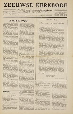 Zeeuwsche kerkbode, weekblad gewijd aan de belangen der gereformeerde kerken/ Zeeuwsch kerkblad 1957-04-26