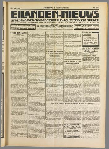 Eilanden-nieuws. Christelijk streekblad op gereformeerde grondslag 1939-02-08