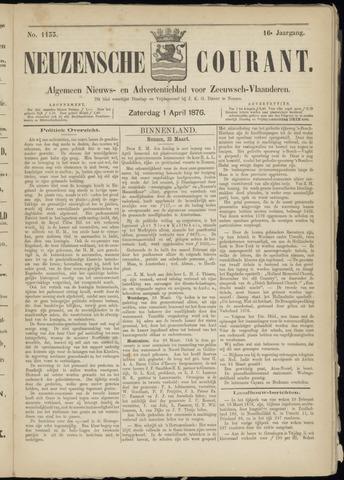 Ter Neuzensche Courant. Algemeen Nieuws- en Advertentieblad voor Zeeuwsch-Vlaanderen / Neuzensche Courant ... (idem) / (Algemeen) nieuws en advertentieblad voor Zeeuwsch-Vlaanderen 1876-04-01