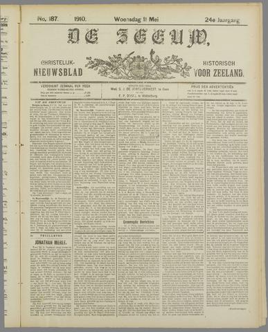 De Zeeuw. Christelijk-historisch nieuwsblad voor Zeeland 1910-05-11