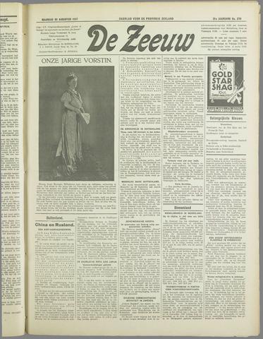 De Zeeuw. Christelijk-historisch nieuwsblad voor Zeeland 1937-08-30