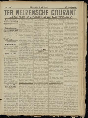 Ter Neuzensche Courant. Algemeen Nieuws- en Advertentieblad voor Zeeuwsch-Vlaanderen / Neuzensche Courant ... (idem) / (Algemeen) nieuws en advertentieblad voor Zeeuwsch-Vlaanderen 1923-07-04