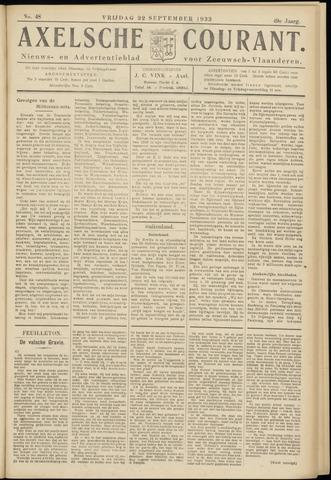 Axelsche Courant 1933-09-22