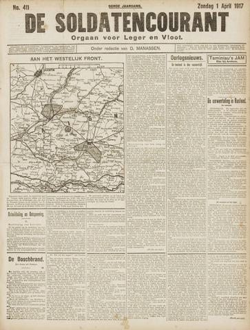 De Soldatencourant. Orgaan voor Leger en Vloot 1917-04-01