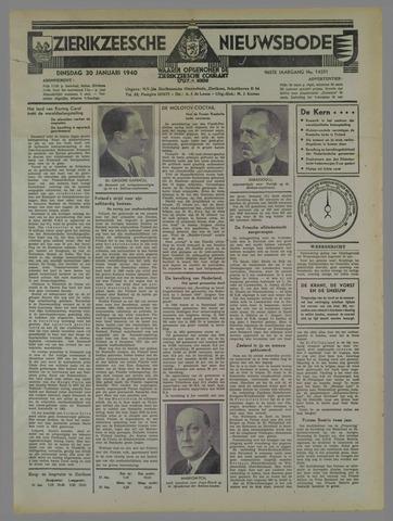 Zierikzeesche Nieuwsbode 1940-01-30