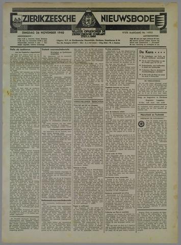 Zierikzeesche Nieuwsbode 1940-11-26