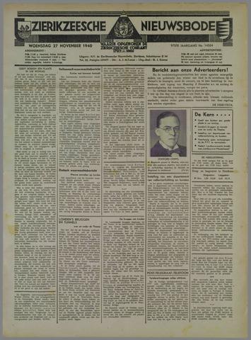 Zierikzeesche Nieuwsbode 1940-11-27