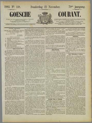 Goessche Courant 1883-11-22