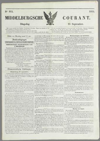 Middelburgsche Courant 1855-09-25