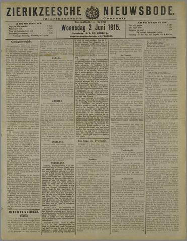 Zierikzeesche Nieuwsbode 1915-06-02