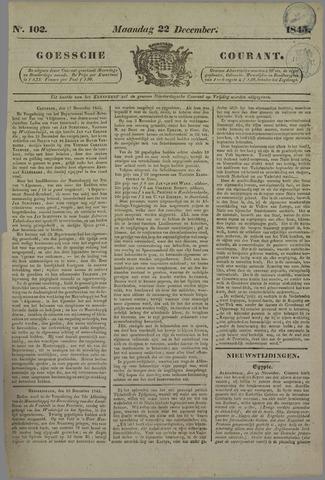 Goessche Courant 1845-12-22