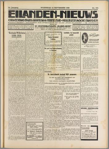Eilanden-nieuws. Christelijk streekblad op gereformeerde grondslag 1938-09-14